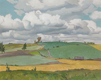 Fields at Heathcote by Alfred Joseph (A.J.) Casson