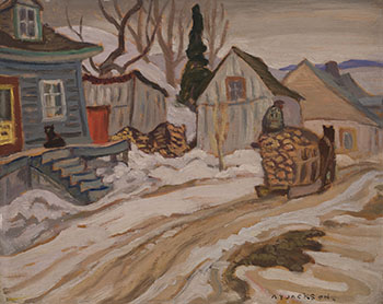St. Joachim, Quebec / Houses in Winter (verso) by Alexander Young (A.Y.) Jackson