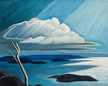 North East Corner of Lake Superior (Lake Superior Sketch XXXVIII) by Lawren Stewart Harris
