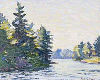 West View, Prospect Lake, Muskoka by Peter Clapham Sheppard