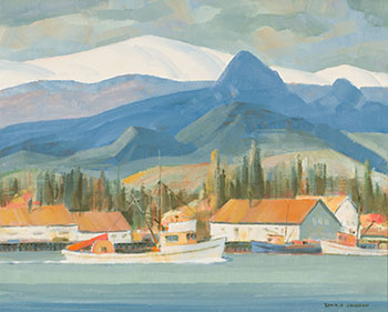 North Coast Cannery - Skeena River by Ronald Threlkeld Jackson