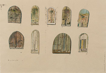Nine Drawings for Kitchener Court House by Anthony Morse (Tony) Urquhart