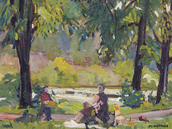 Picnic in a Park by Peter Clapham Sheppard