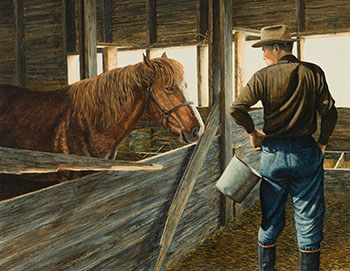 Broken Stall by Leonard (Len) James Gibbs