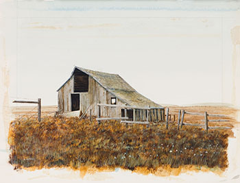 Cottonwood Barn by Leonard (Len) James Gibbs