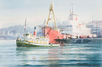 Tug Master, Ogden Point, Victoria by Harry Heine