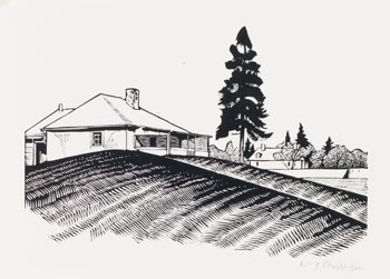 Engineer's House and South Wall by Walter Joseph (W.J.) Phillips
