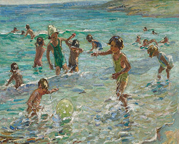 At the Beach by Dorothea Sharp