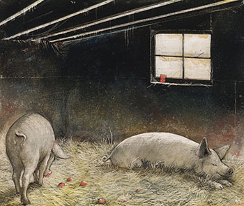 A Pig's Life by William Kurelek