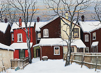 After the Snow (Cabbagetown) by John Kasyn