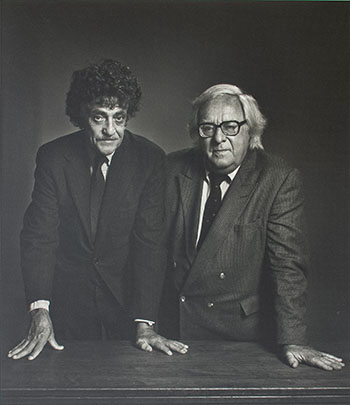 Ray Bradbury and Kurt Vonnegut, circa 1990 by Yousuf Karsh