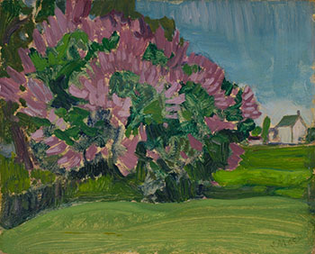 The Lilac Bush at the Artist's Home - Thornhill House by James Edward Hervey (J.E.H.) MacDonald