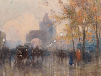 Near Tower Bridge by Frederic Marlett Bell-Smith