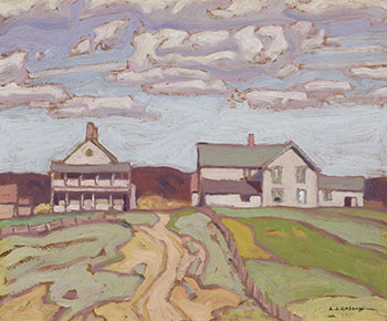 Old Buildings, Wabamic by Alfred Joseph (A.J.) Casson