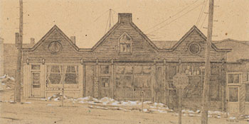 Building in Amherst by Alexander Colville