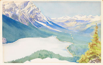 Peyto Lake by Walter Joseph (W.J.) Phillips