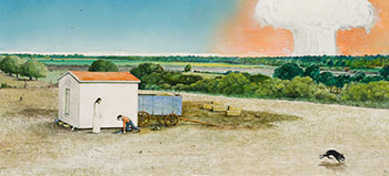 Untitled (from the Burning Barn Series) by William Kurelek