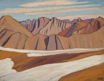 Colin Range, Rocky Mts., Rocky Mountain Sketch CXI by Lawren Stewart Harris