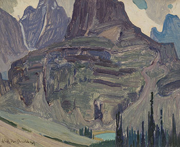 Peaks Above Lake O'Hara by James Edward Hervey (J.E.H.) MacDonald