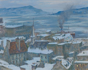 Quebec Winter Twilight by Robert Wakeham Pilot