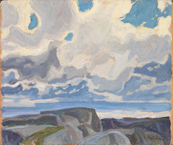 After the Shower by Franklin Carmichael