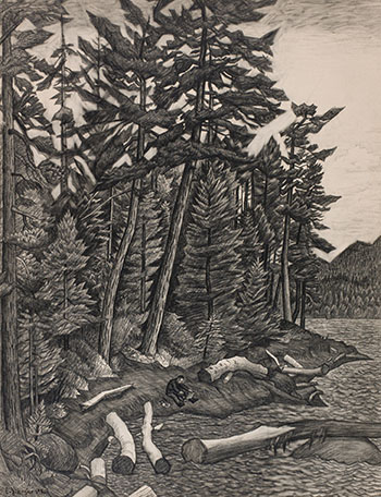 Trees on Gabriola Island by Edward John (E.J.) Hughes