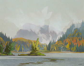 October Morning, Oxtongue Lake par Alfred Joseph (A.J.) Casson