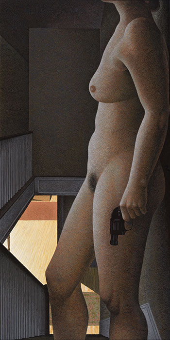 Woman with Revolver by Alexander Colville