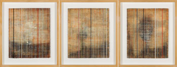 A Set of Three Encaustic Paintings par Sky Glabush