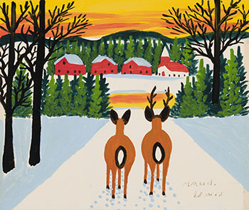 Two Deer par Maud Lewis