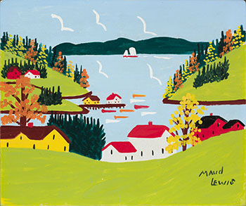 Sandy Cove in Fall par Maud Lewis