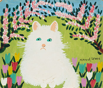 White Cat par Maud Lewis