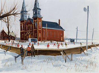 Village Skating Rink par Terry Tomalty