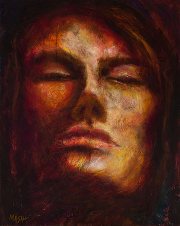 Painting of a Woman by Pamela Masik