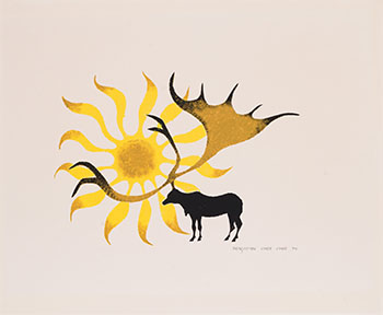 Moose with Sun by Benjamin Chee Chee