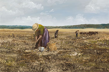 Picking Potatoes by Allen Sapp