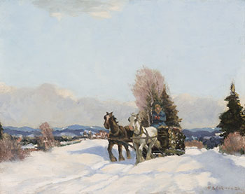 Hauling Logs in Winter by Frederick Simpson Coburn