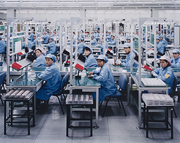 Manufacturing #15, Bird Mobile, Ningbo, Zhejiang Province, China 2005 by Edward Burtynsky