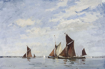 Thames Barges Racing on the Orwell by Edward Seago