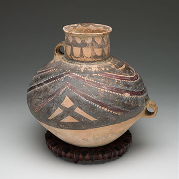 Chinese Earthenware Painted Jar, Majiayao Culture, Neolithic Period (3300-2000 BC) by  Chinese Art
