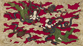 Large Chinese Wood Reticulated Apsara Panel, Republican Period (1911 - 1949) by  Chinese Art