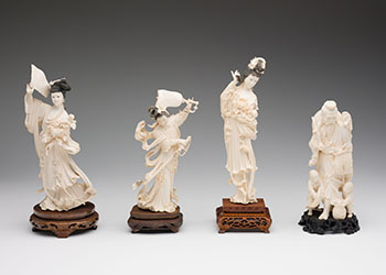 Four Chinese Ivory Carved Figures, circa 1955 by  Chinese Art