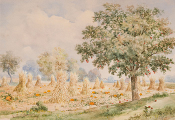 Corn Stooks by Lucius Richard O'Brien