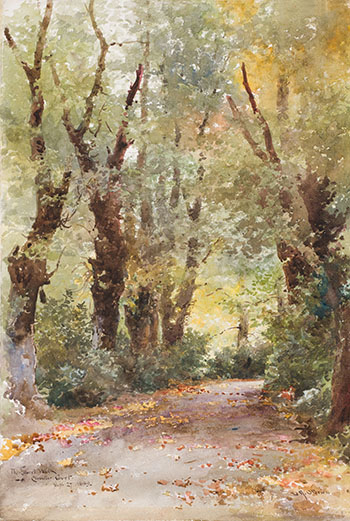 The Laurel Walk, Clovelly Court by Lucius Richard O'Brien