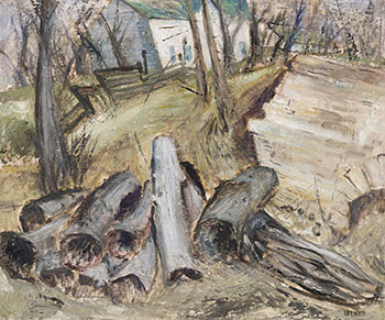 Log Pile par Walter Hawley Yarwood