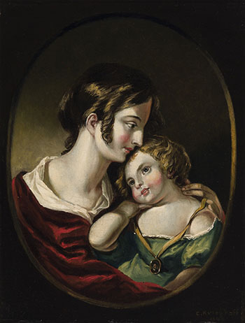 Louise and Emilie (Portrait of the Artist's Wife and Daughter) par Cornelius David Krieghoff