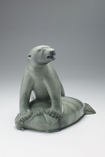 Polar Bear and Walrus by Unidentified Inuit Artist
