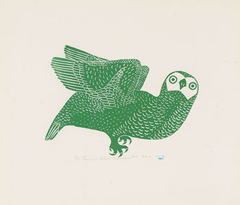 Green Owl by Thomassie Echalook