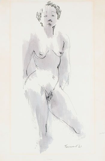 Standing Nude by  Townsend