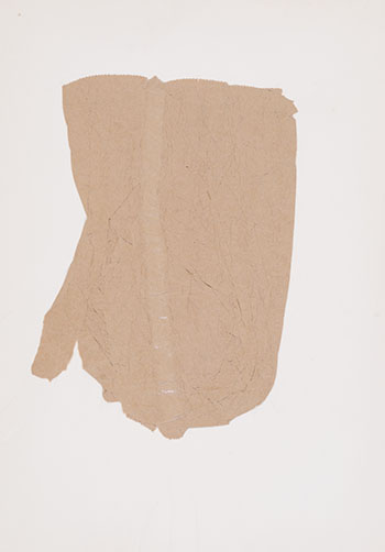 Laminated Crumpled Paper Bag on Ringed Paper by Iain Baxter&